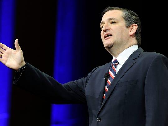 Sen. Ted Cruz speaks at the NRA-ILA Leadership Forum