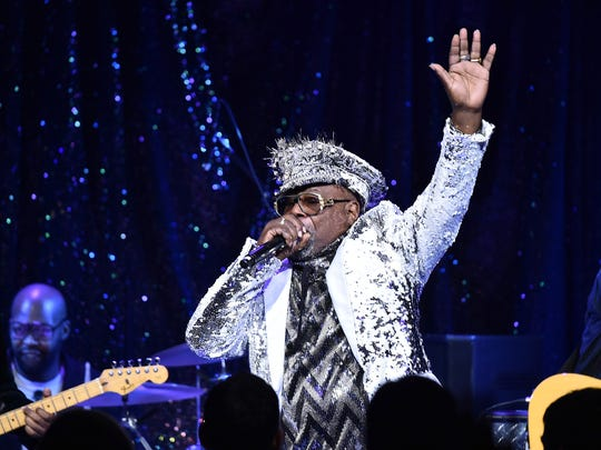 George Clinton, who turns 77 Sunday, is being feted at the Michigan Lottery Amphitheatre at Freedom Hill.