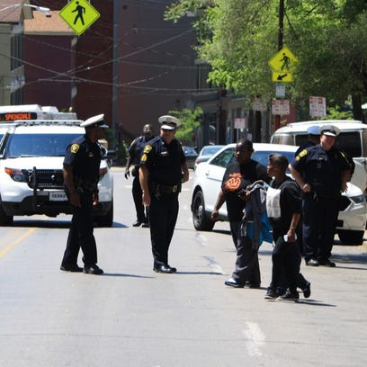 The 2200 block of Vine Street was closed Friday afternoon