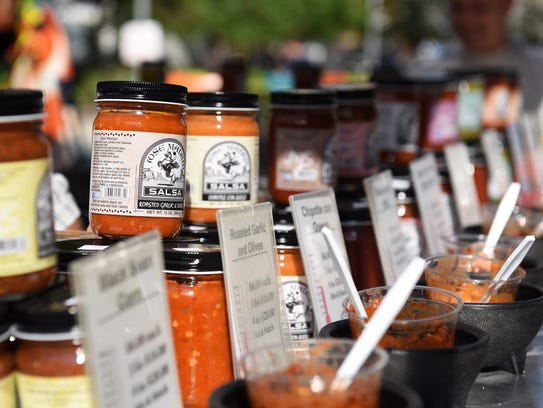 Many different varieties of Jose Madrid salsa, including