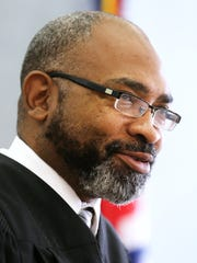 Hamilton County Municipal Judge Fanon Rucker presides over jury selection in the Indian Hill real estate case against Crysta Pleatman. Prior the start of this case, Pleatman spent a week in jail.