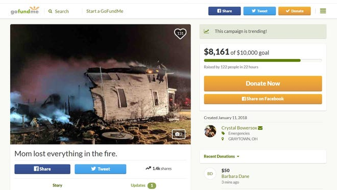 American Idol runner-upCrystal Bowersox is asking for help on behalf of her mother, who she said lost everything as the result of a fire at her childhood home.