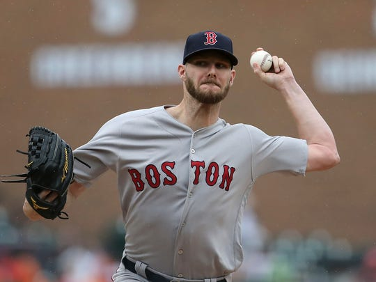 Red Sox starter Chris Sale blanked the Tigers over six innings Sunday.