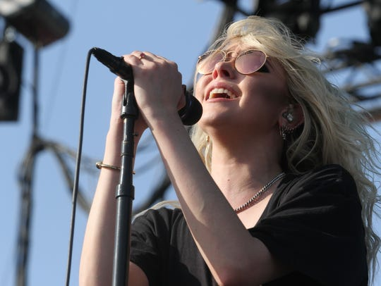 Taylor Momsen of The Pretty Reckless performs at Fort