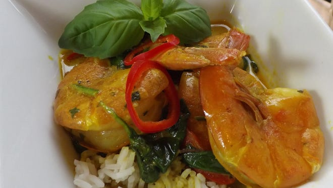 Shrimp curry is a great way to cook with heart healthy coconut oil.