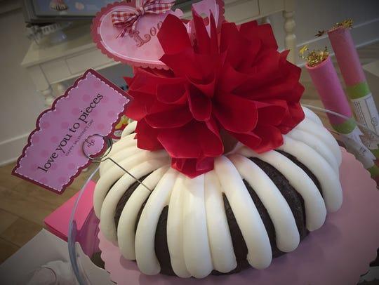 Chocolate, chocolate chip bundt cake at Nothing Bundt