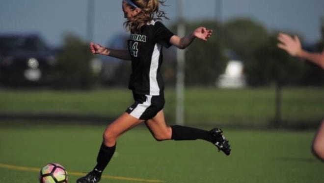 Maddie Hart of Cranford is a junior at Loyola University Maryland and plays center midfield on the school's Division 1 soccer team.