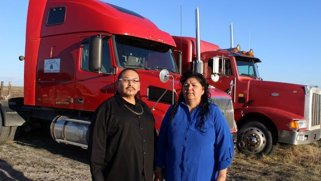 Bear Gallineaux, left, and Delphine Bird, owner-operators of Browning-based Bear Traxx Truck Training, will be instructors in a Great Falls College MSU pilot program.