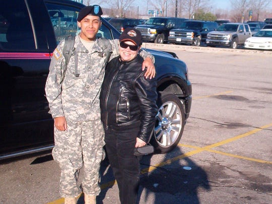 Armand and Roxanne Reynolds in Flint in 2006, when Armand was able to come home to Michigan after basic training.