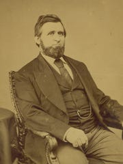 Oliver H. Kelley is shown in a photo from about 1875.