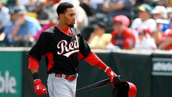 Reds outfielder Billy Hamilton