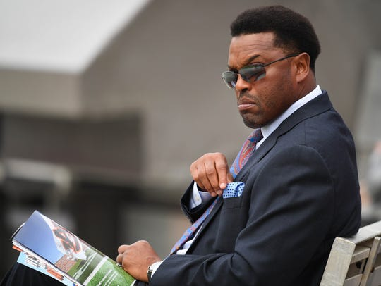 Texas A&M Aggies head coach Kevin Sumlin looks on prior