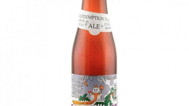 De Dolle Stille Nacht, a Belgian Strong Pale Ale with warm spice and light fruit notes. 12% ABV. Esen, Belgium.