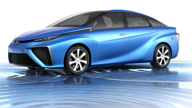 Toyota is showing its plans for a hydrogen powered car