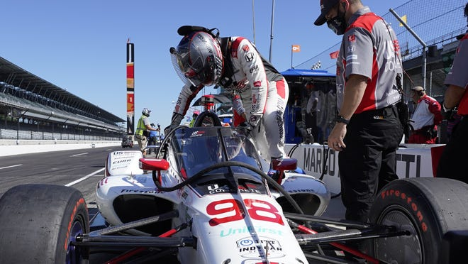Marco Andretti is on the pole for Sunday's Indianapolis, which will be run with no fans at The Brickyard for the first time in its long history.