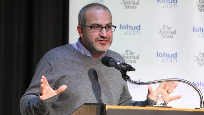 Screenwriter Mark Bomback spoke about his craft during the lohud Influencer Speaker Series at the Chappaqua Library Feb. 17, 2016.