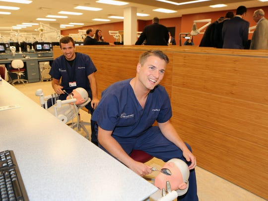 Cody Novotny, left and Tim Litz, first year dental