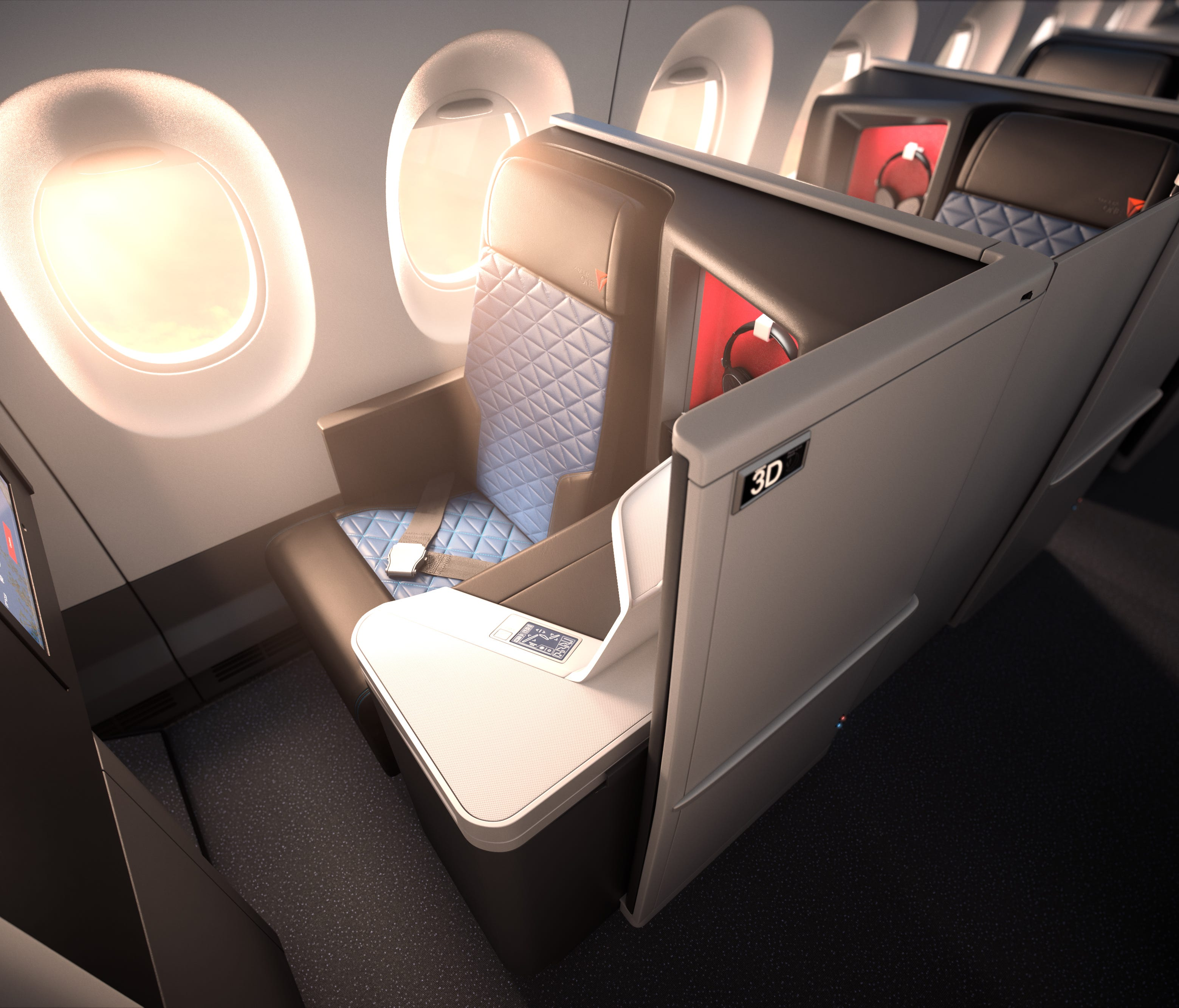 The Delta One suite will debut on Delta Air Lines' first Airbus 350 in fall 2017.