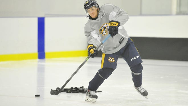 Predators prospect Viktor Arvidsson appeared in six NHL games last season.
