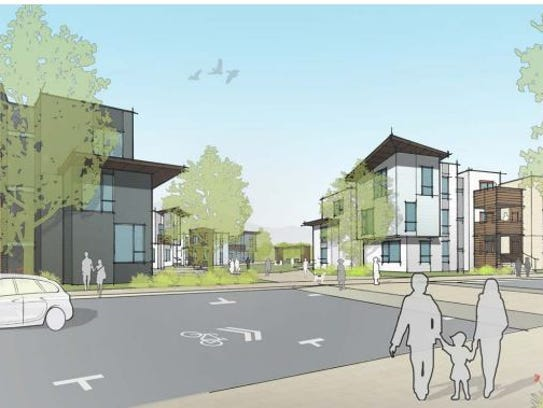 A view of the southern part of the proposed new development
