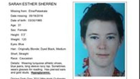 Sarah Esther Sherren has not been seen or heard from