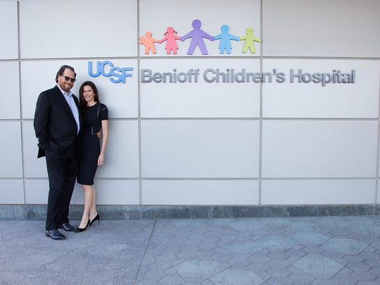 Salesforce CEO Marc Benioff and his wife, Lynne, have