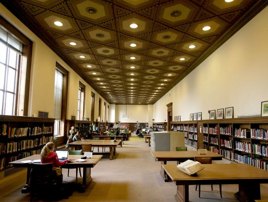 The main branch of the Detroit Public Library on Woodward Avenue in Detroit is listed as one of the city's cooling centers.