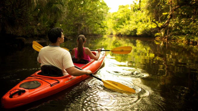 Paddle along the Calusa Blueway for a romantic getaway.