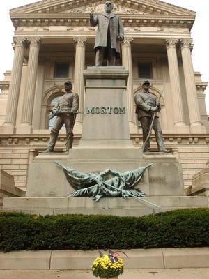The Indiana Statehouse.