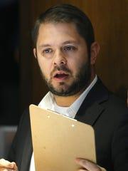 U.S. Rep. Ruben Gallego during the Arizona Democratic