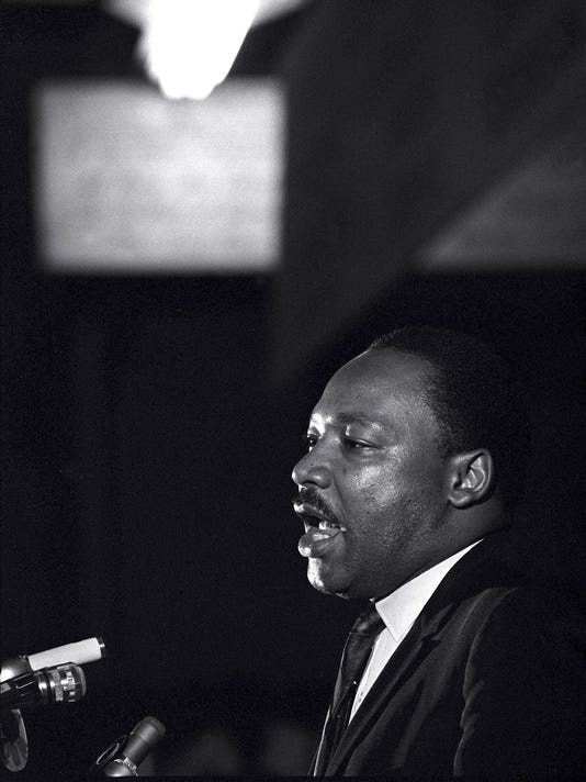 Dr. Martin Luther King Jr. on April 3, 1968, the day before his assassination.