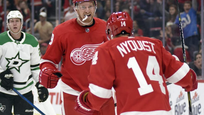 Anthony Mantha started slow this season for the Red Wings, but has righted the ship.