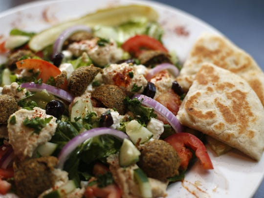 The Open Sesame falafel salad at Open Sesame in the