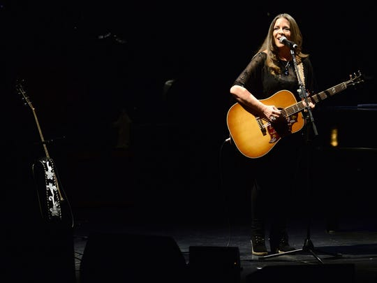 Carlene Carter opens for John Mellencamp at the Weidner Center for the Performing Arts in Green Bay Wis. on Monday, Feb. 9, 2015.