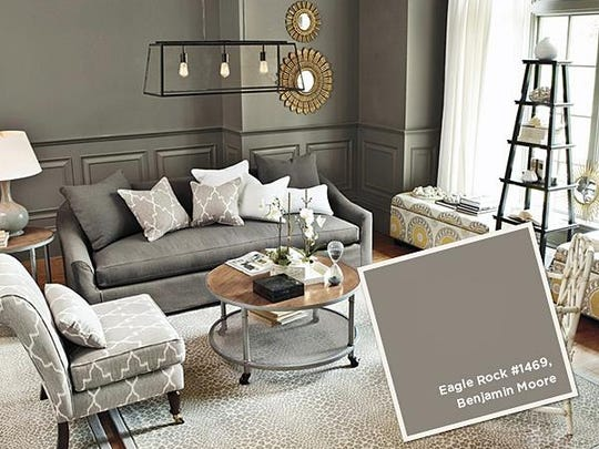 Eagle Rock is a sophisticated gray in this living room.
