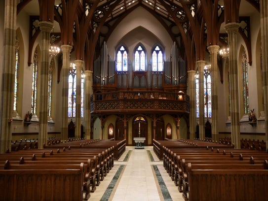 The organ at St. John's the Baptist Church on Grand