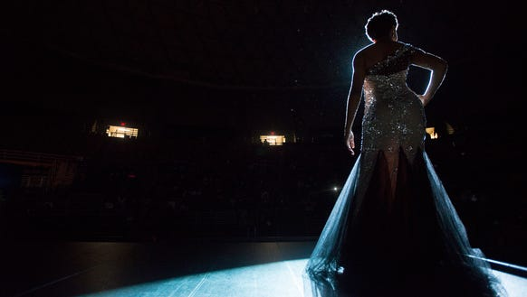 Miss ASU Junior candidate Jaylah Stanley walks poses