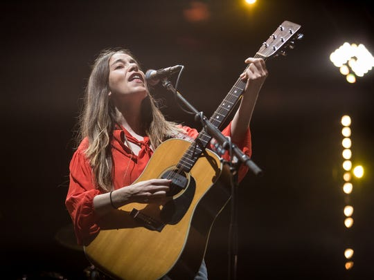 Haim perform at Lost Lake Festival in Phoenix on Friday,