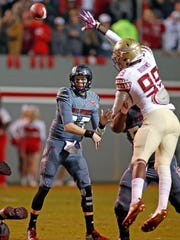 NC State redshirt junior quarterback Ryan Finley will