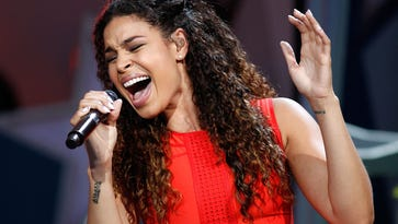 Jordin Sparks performs at PBS' 'A Capitol Fourth' rehearsals in Washington on July 3, 2014.