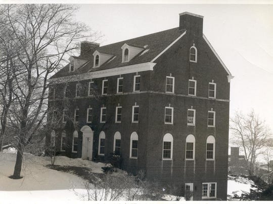 The Mary Tower Building, a residence for nursing school students on the grounds of Vassar Brothers Medical Center, as seen during the 1940s.