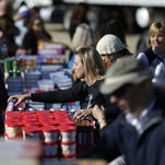 The mobile food pantry in the parking lot at The Post-Crescent in downtown Appleton marked the kickoff of Gannett Wisconsin Media's annual Stock The Shelves campaign.