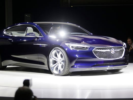 The Avista concept is revealed at the Buick display