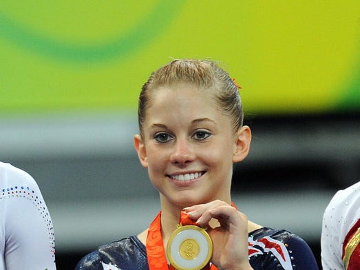 Aug 19, 2008; Beijing, CHINA; Balance beam medalists