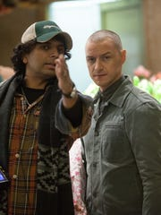 Director M. Night Shyamalan and James McAvoy on the