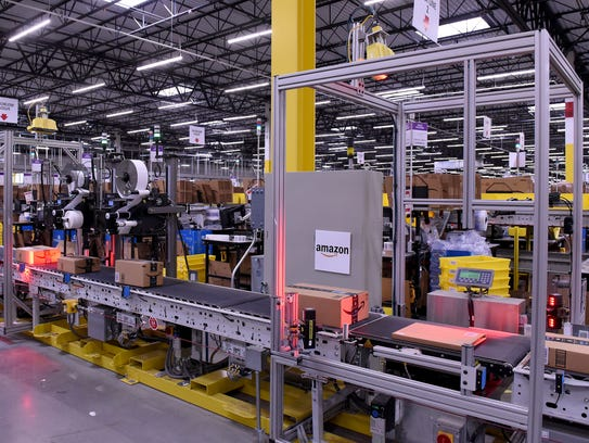 The Amazon Fulfillment Center in Etna Township employs