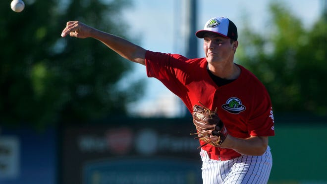 Great Falls Voyagers right hander Chris Comito, shown pitching against Helena earlier this season, worked four innings in relief Wednesday night as the Voyagers won the opener of their three-game series at Orem, 9-4.