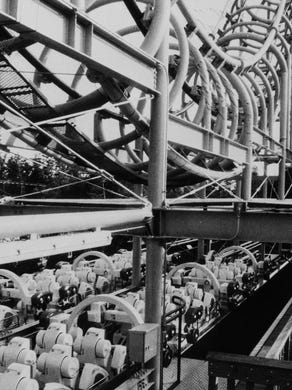 1986: The Ultra Twister is shown at Great Adventure.