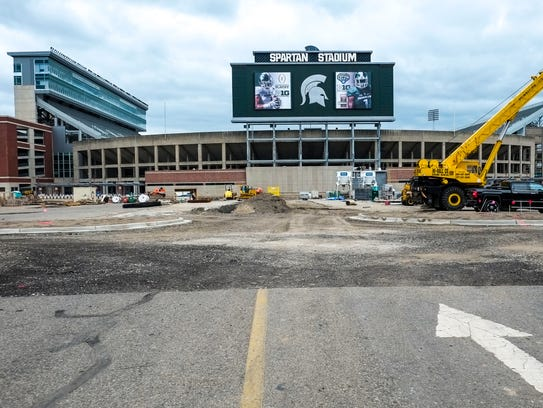 Spartan Stadium underwent renovations during the summer