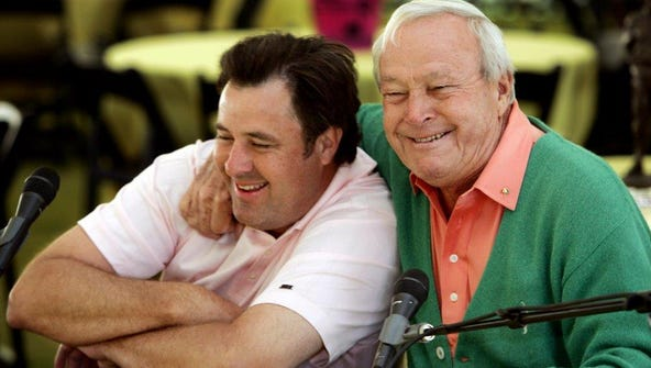 Vince Gill, right, and Arnold Palmer were close friends.
